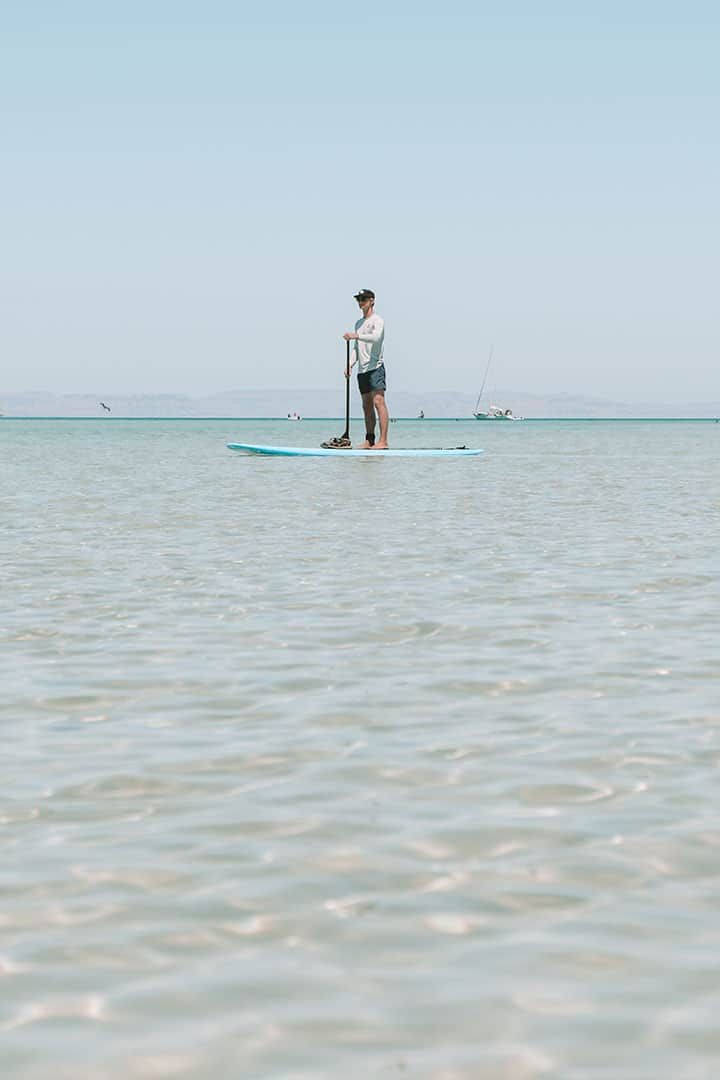 SUP Boarding at Playa Balandra with Baja Desconocida