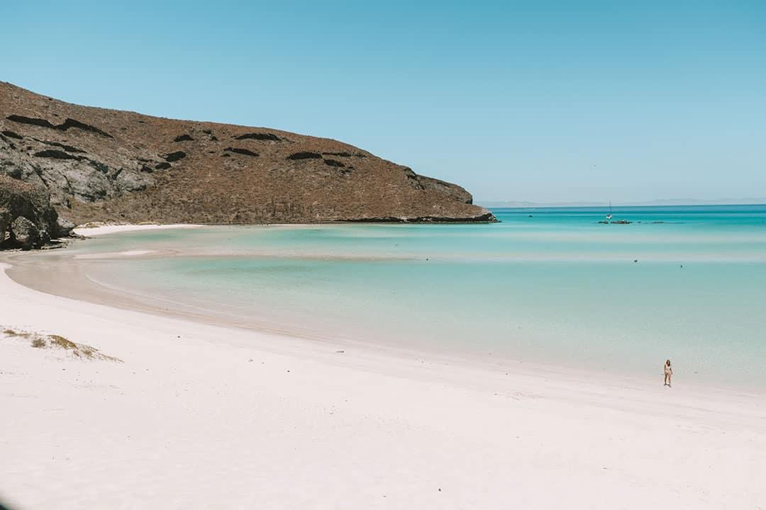 Empty beaches at Balandra near La Paz, Mexico