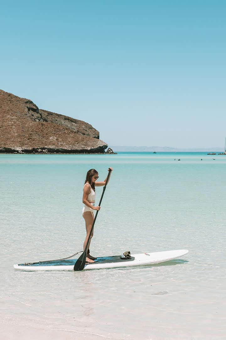 SUP Boarding at Balandra Beach with Baja Desconocida