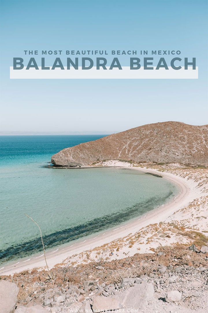 Paradise is found at Balandra Beach, a beautiful bay surrounded by white sand dunes just 30 minutes from the busy city of La Paz, Mexico. Go Stand Up Paddleboarding in Balandra to explore the mangroves and the shallow bay. Balandra Beach is easily one of the most beautiful beaches in Mexico. | #Mexico #LaPaz #Balandra #BalandraBeach #BajaCalifornia
