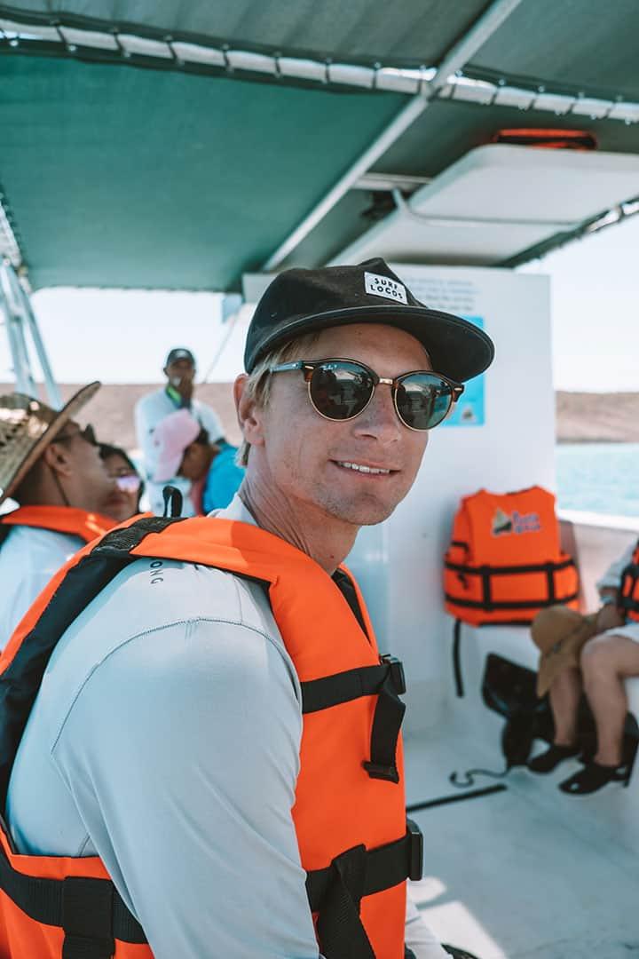 Person on Punta Baja tour to Isla Espiritu Santo
