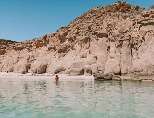 Playa Ensanada Grande on Isla Espiritu Santo Island tour near La Paz, Mexico