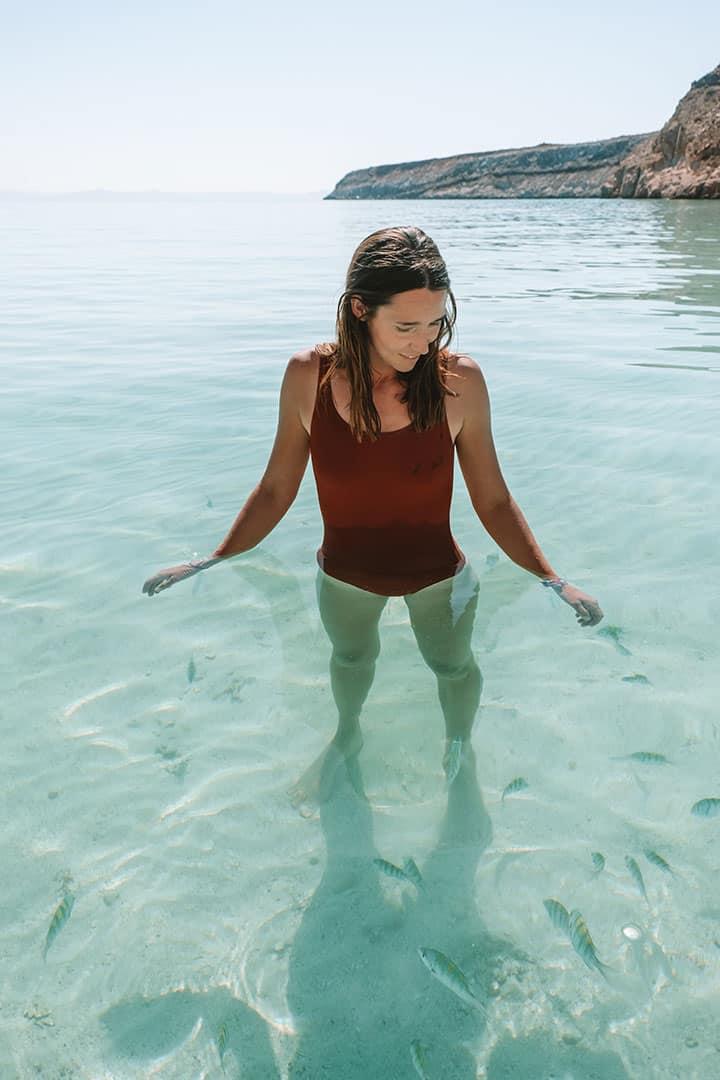 Swimming with fish at Playa Ensanada Grande near La Paz, Mexico
