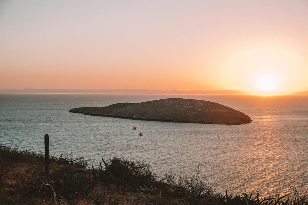 Sunset at Playa Plinguiche near La Paz, Mexico