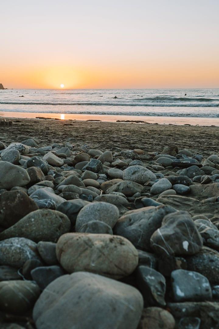 Rocky shoreline at Pacifica Beach