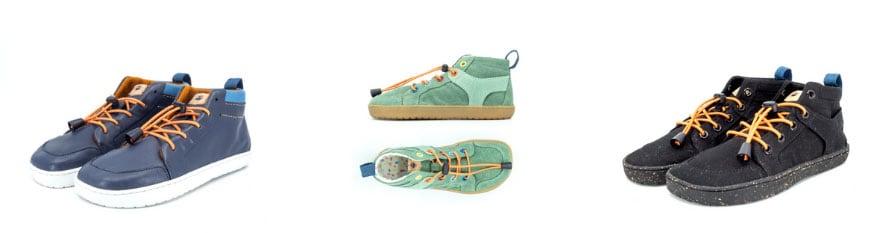 Mukishoes hightop barefoot sneakers for kids