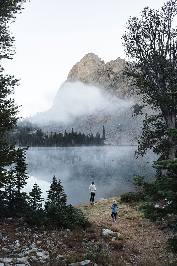 Early morning at Alice Lake in Idaho's Sawtooth Wilderness