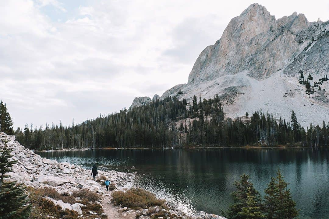 Hiking along Alice Lake in Idaho's Sawtooth Wilderness