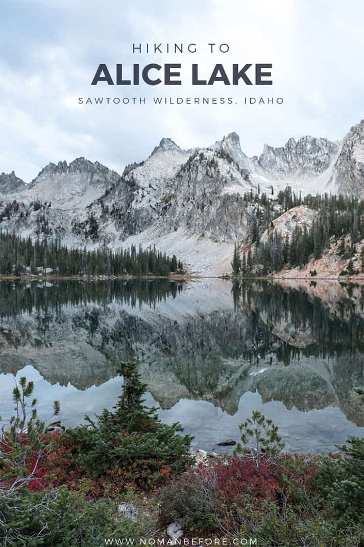 One of the most beautiful (and popular) trails in Idaho's Sawtooth Wilderness is the Tin Cup Hiker Trail that leads to Alice Lake. Find out everything you need to know to hike this 11.2 mile RT trail and go backcountry camping at Alice Lake! #idaho #sawtooths #sawtoothwilderness #alicelake #hiking #backpacking #camping