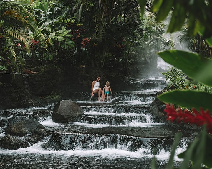 Tabacon Hot Springs in La Fortuna, Costa Rica