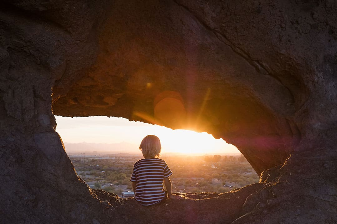 Hole in the Rock at Papago Park is a great place to watch the sunset near Scottsdale, Arizona