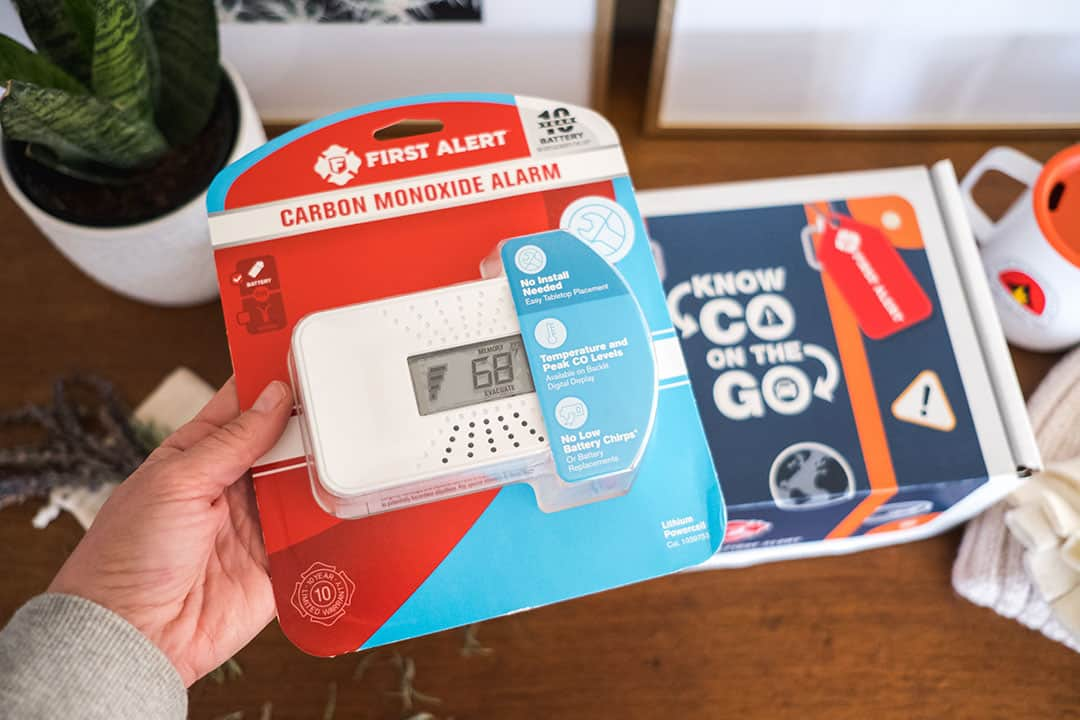 Carbon Monoxide Alarm for travel by First Alert