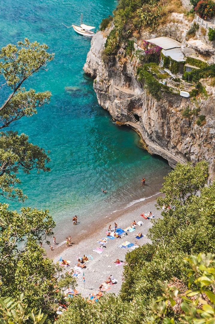 Arienzo Beach near Positano, Italy