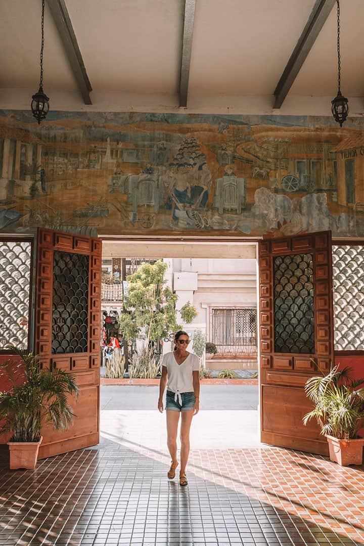 Colonial architecture in Todos Santos, Mexico