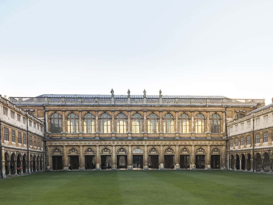 Wren Library at Trinity College Cambridge Engalnd