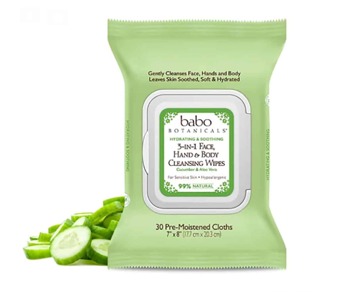 Babo Botanicals Face Wipes for Camping