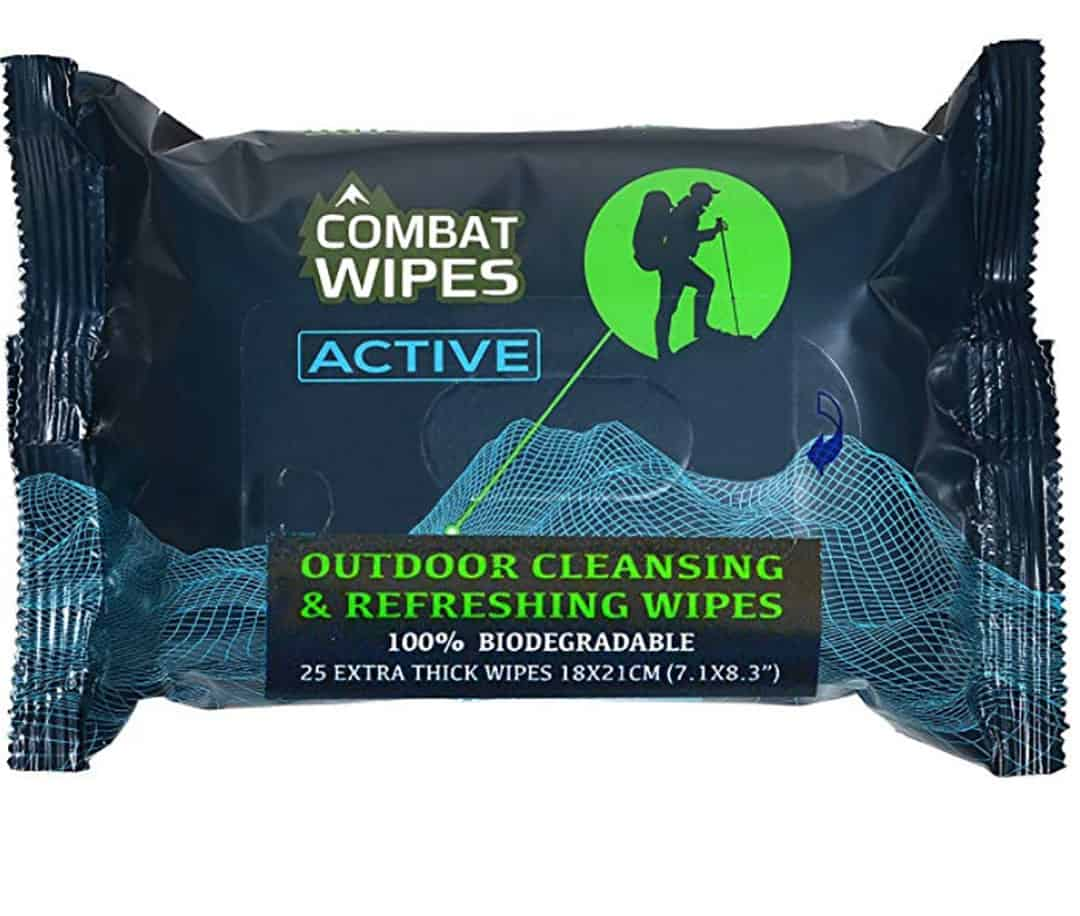 Combat Wipes for camping