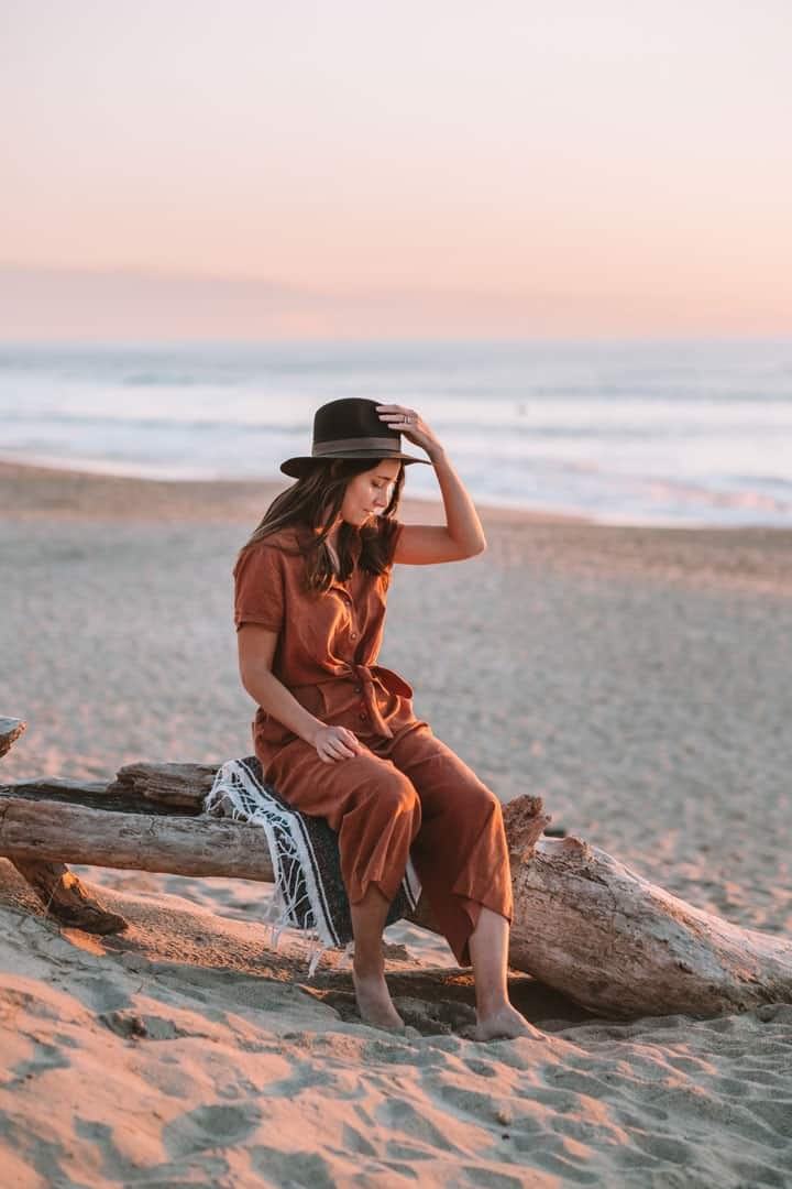 Toad&Co jumpsuit using sustainable materials like hemp