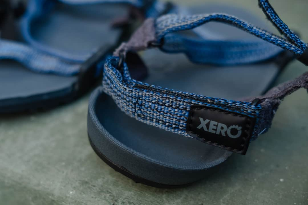 Heel cup on the Xero Shoes sandals for kids