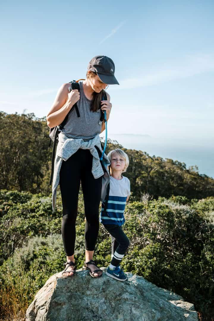 Hiking in lightweight minimalist sandals