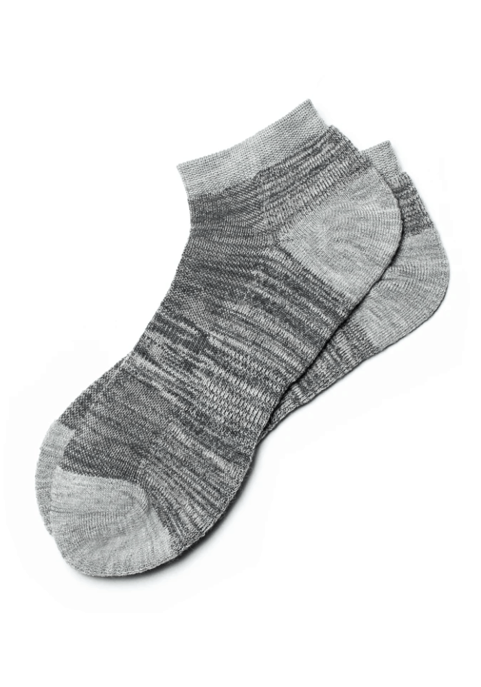 A pair of Wildly Good Lightweight merino wool low cut socks