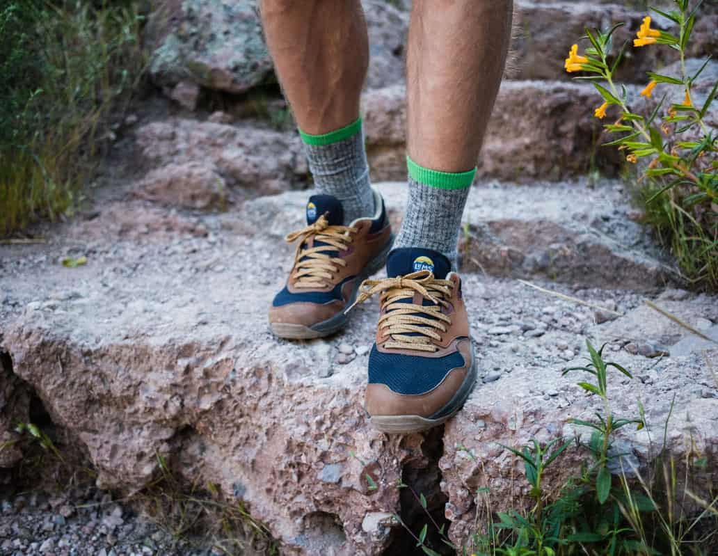 Lightweight merino wool socks perfect for summer hiking
