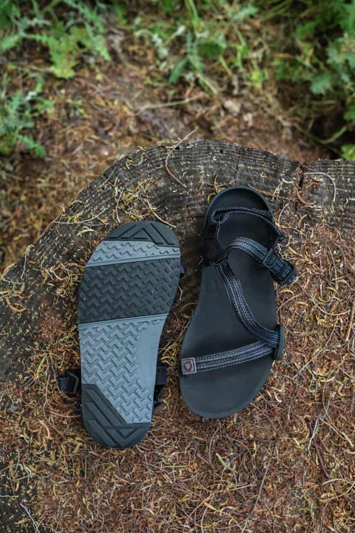 The rugged grip on the bottom of the Xero Shoes Z Trail Minimalist Hiking Sandals
