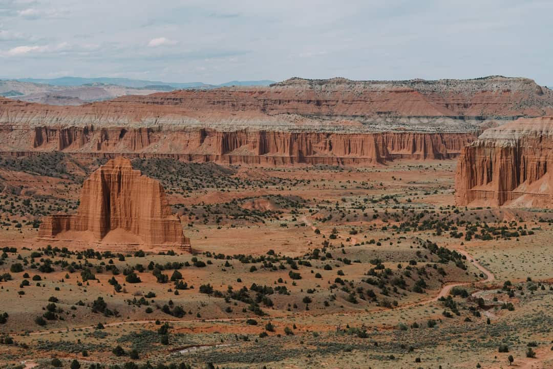 View from Upper Cathedral Valley Overlook