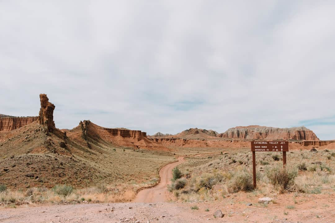 Empty Roads on the Cathedral Valley Loop in Capitol Reef NP