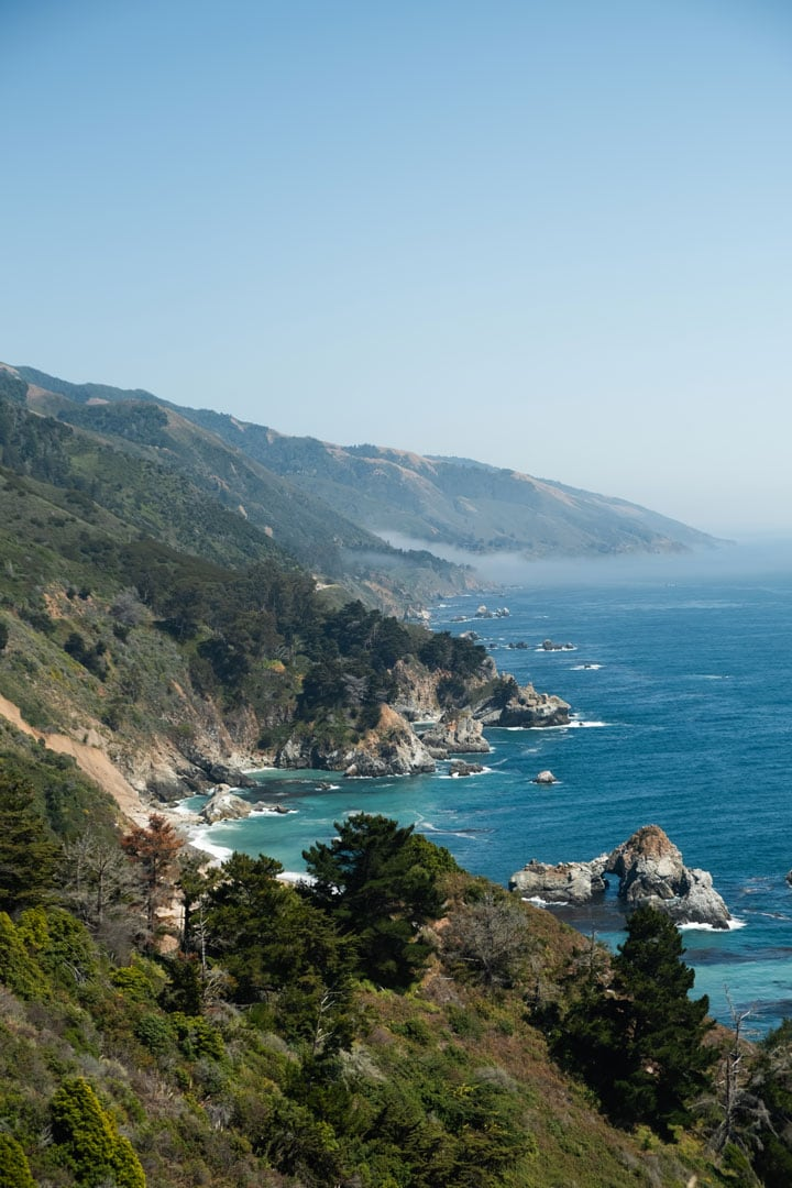 Stunning views along the Big Sur Coast