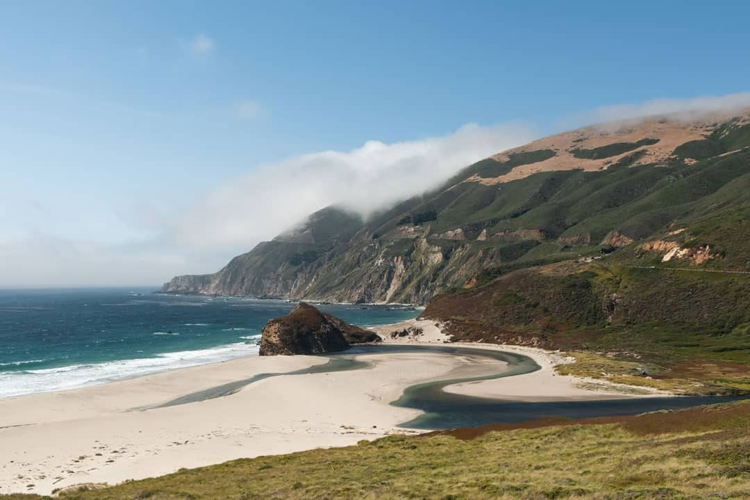 Sandy beach in Big Sur, California