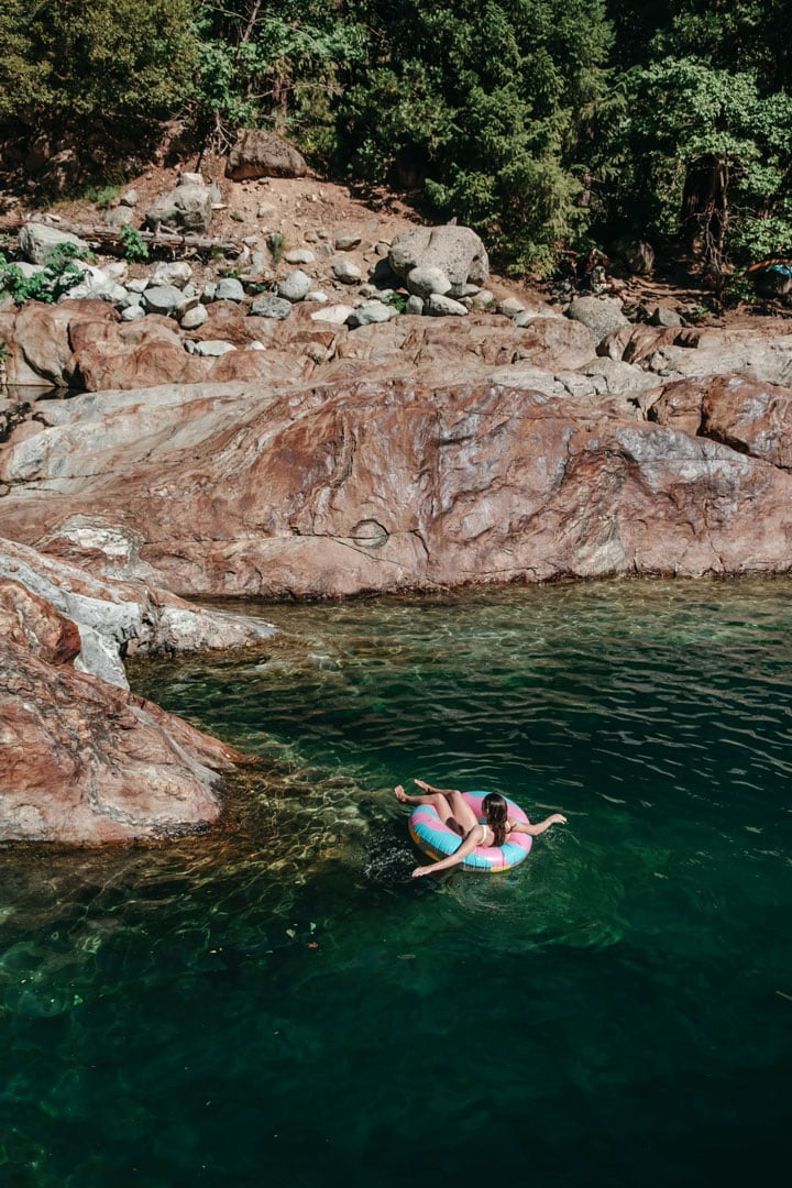 Floating in the Emerald Pools, Yuba River