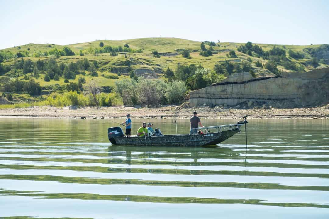Fishing on Lake Sakakawea in North Dakota