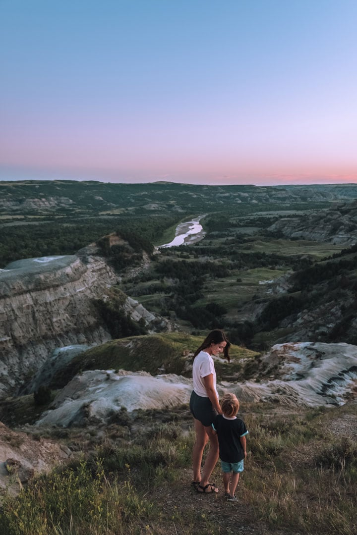 Sunset in Theodore Roosevelt National Park