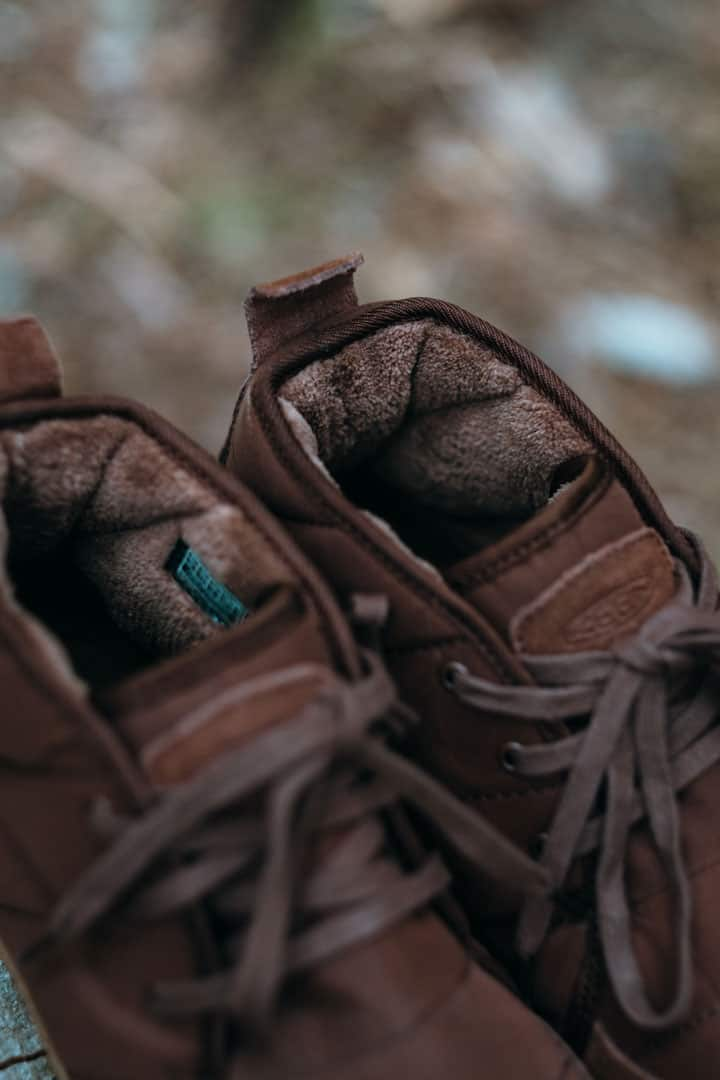 Fuzzy warm lining in the KEEN Howser Chukkas