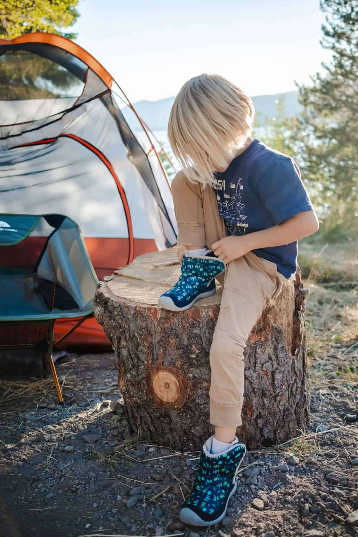 Kids' KEEN Howser boots are the perfect camping shoes for kids