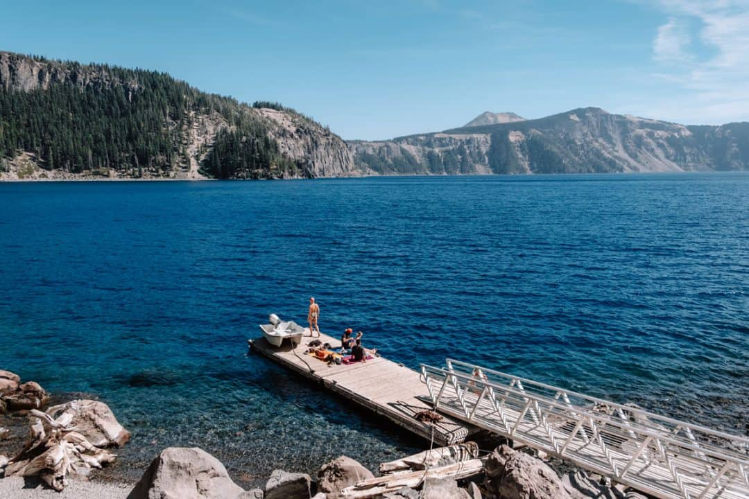 Cleetwood Cove Trail to the Shore of Crater Lake National Park