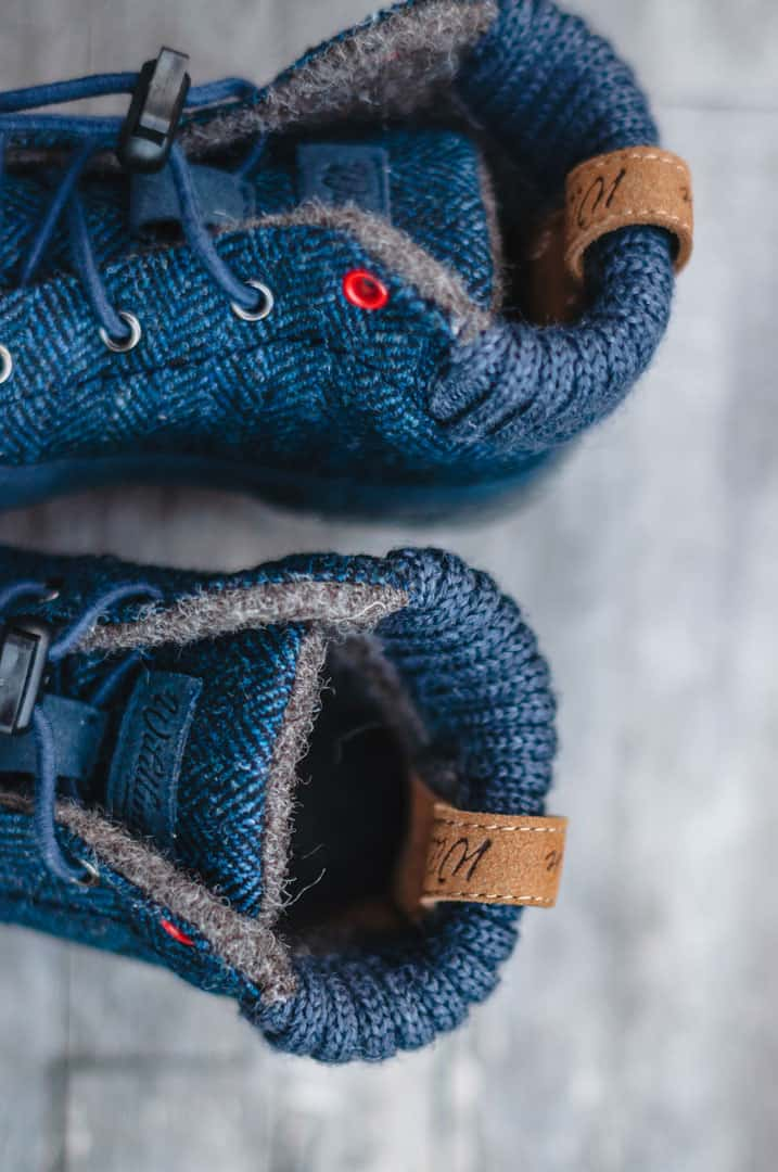 Warm Wool Barefoot Shoes for Kids by Wildling
