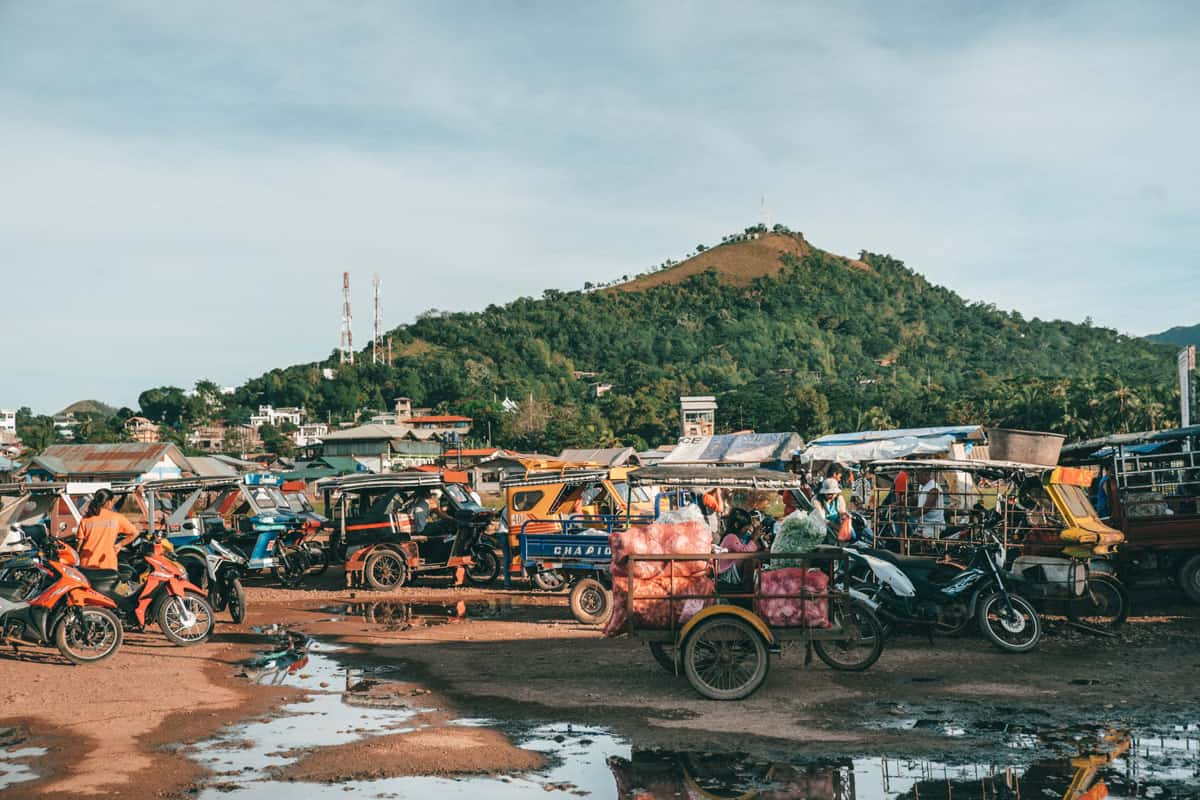 The market in Coron, Philippines