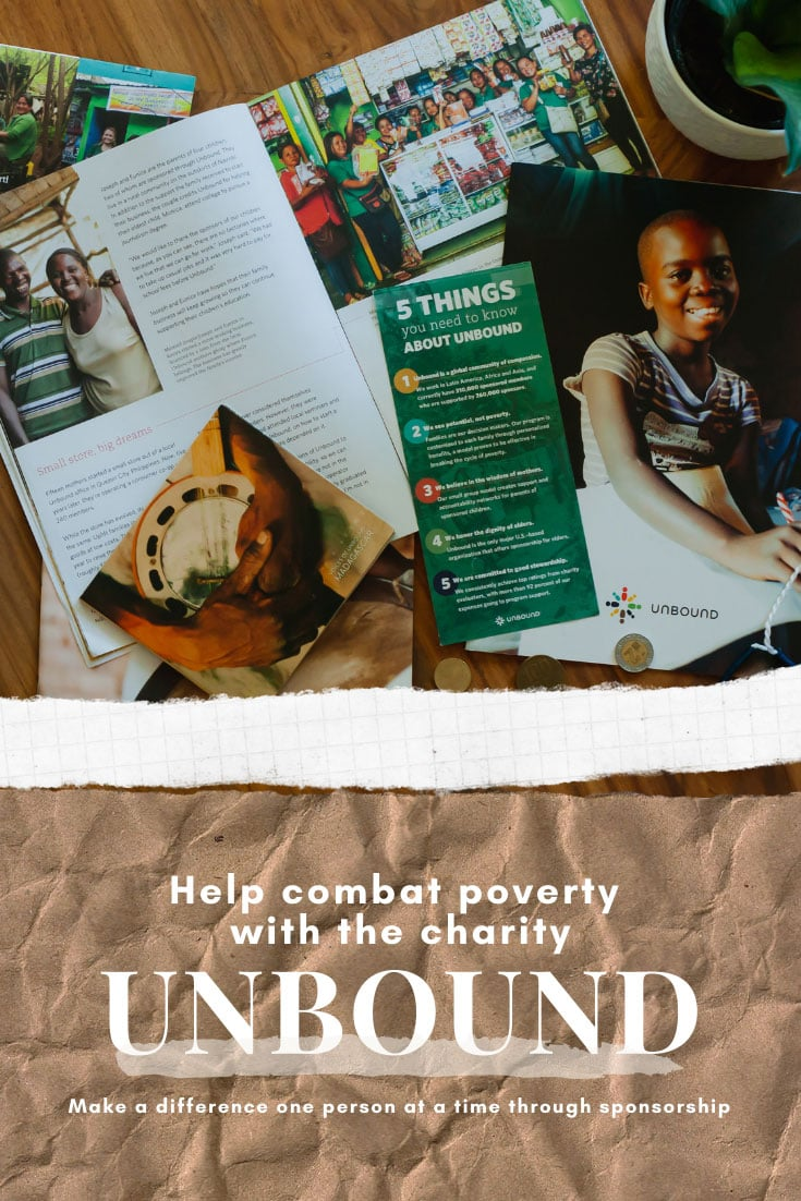 AD | Addressing global poverty is best done one person at a time. I'm honored to partner with the charity Unbound, which focuses on one-on-one sponsorships. Unbound works with individuals to set and work towards specific goals that help put them on a path towards self- sufficiency. Read this article to learn more about how a sponsorship or donation can make a meaningful impact to one person.