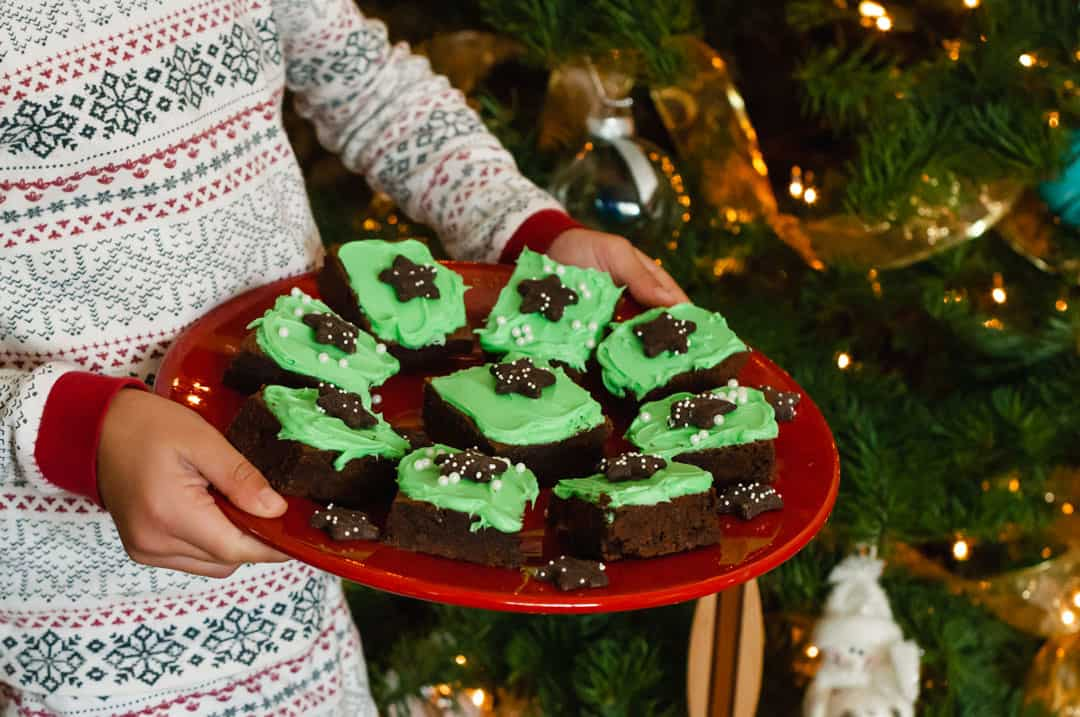 Kodiak Cakes Fudge Brownies with Mint Frosting