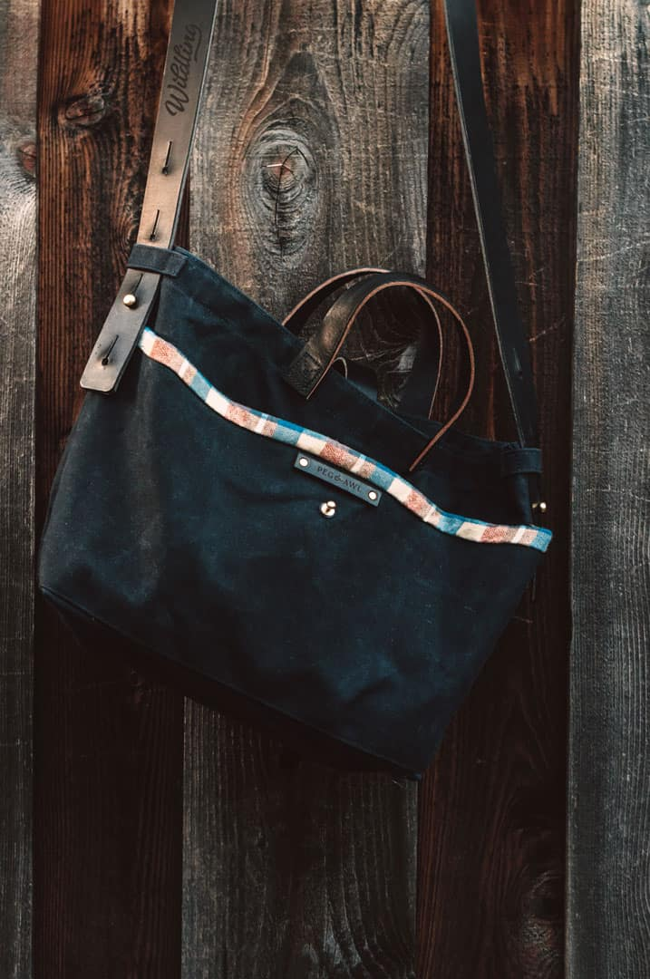 Peg and Awl Waxed Canvas Tote Bag