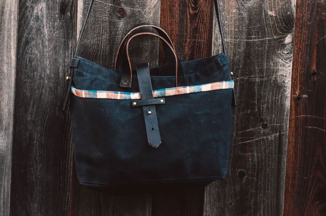 Peg and Awl Bags, Waxed Canvas Tote Bag