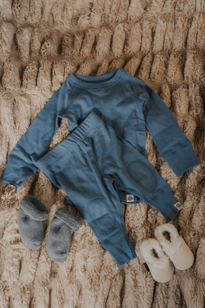 Nui Organics Merino Wool Thermals for Babies