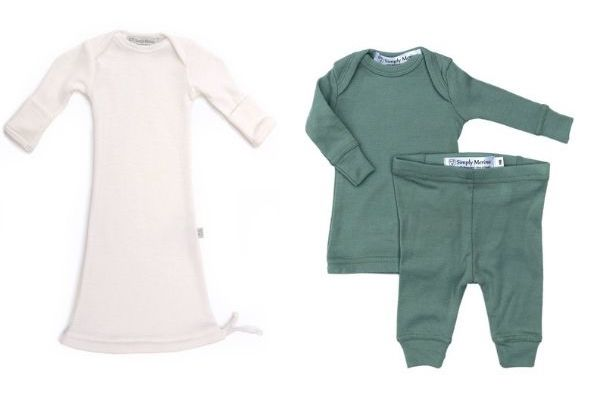 Simply Merino Wool Baby Gown