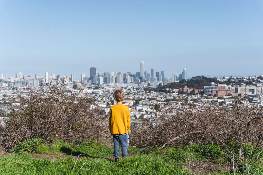 Best views of San Francisco at Bernal Heights Park