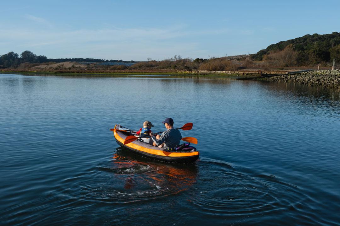 Inflatable Tandem Kayak, Kayaking in Elkhorn Slough