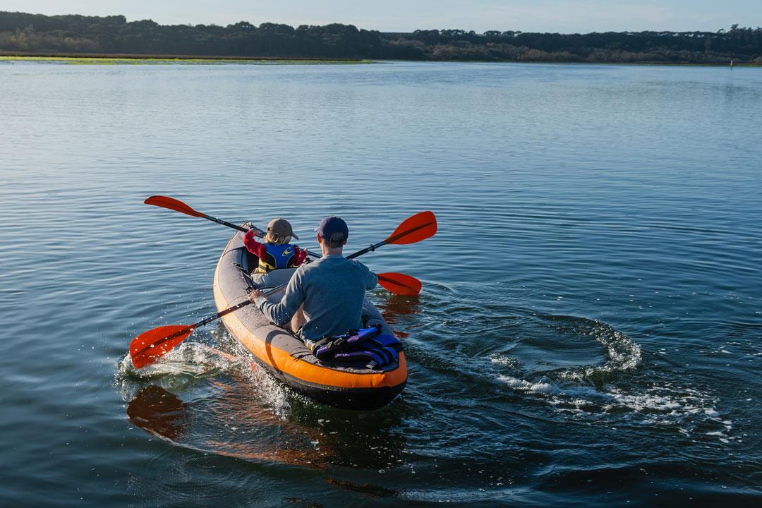 Kayaking in Elkhorn Slough near Kirby Park