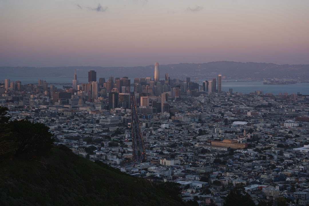 View of downtown San Francisco from Twin Peaks