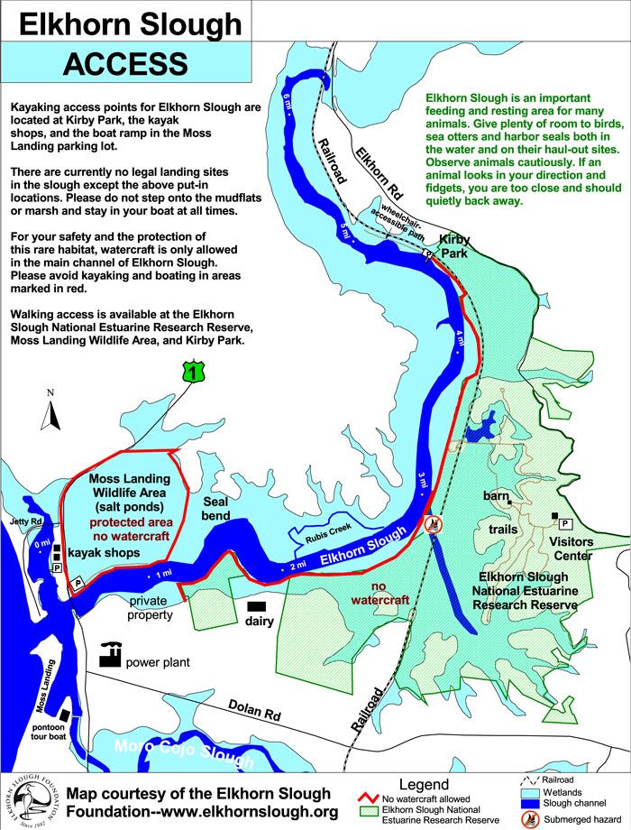 Map of Elkhorn Slough